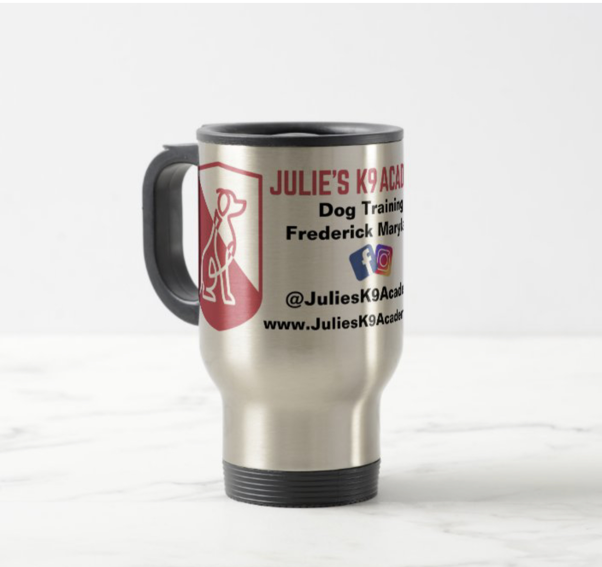 Julie's K9 Academy To Go Mug